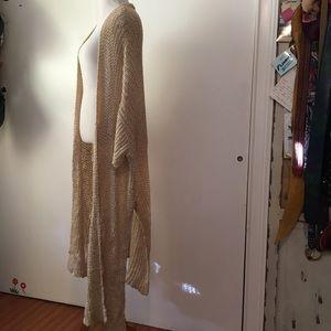 ZARA knit LIMITED EDITION open cardigan beige S:M
